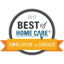 2017 best of home care employer of choice award