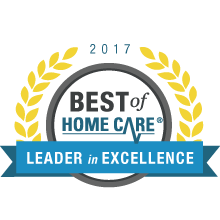 2017 best of home care leader in excellence award