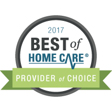 2017 best of home care provider of choice award