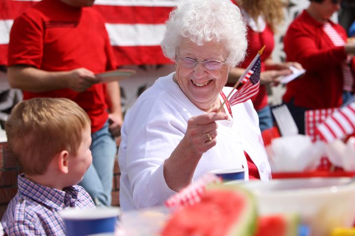 elderly fourth of july