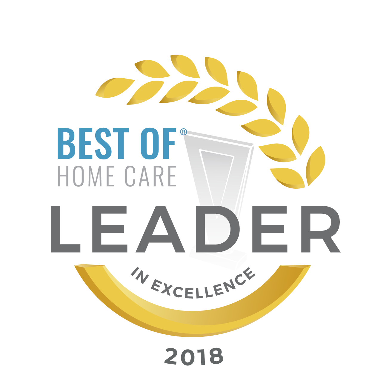 2018 best of home care leader in excellence award