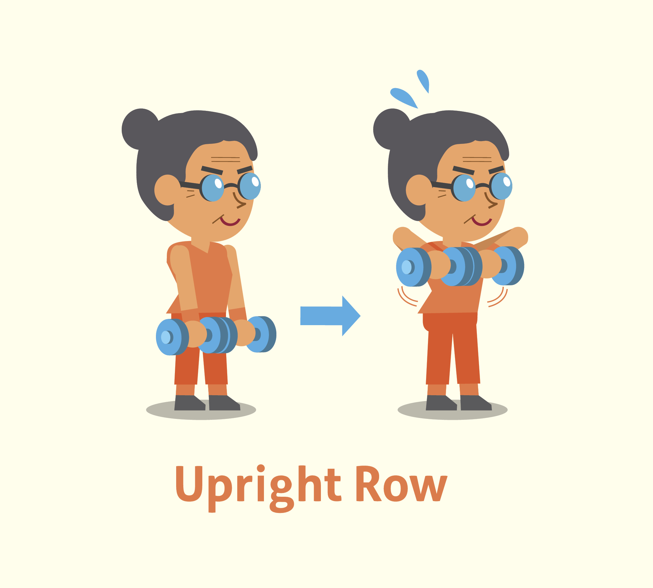 upright row