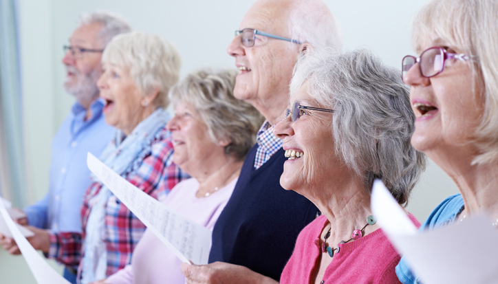 Seniors singing in choir