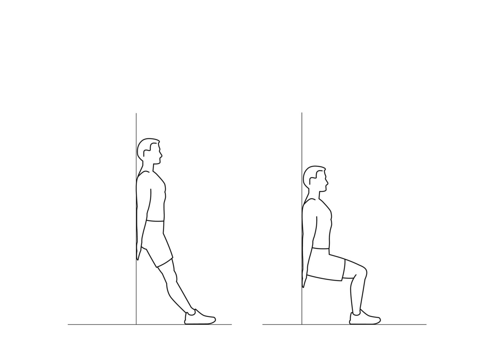 wall half-squat